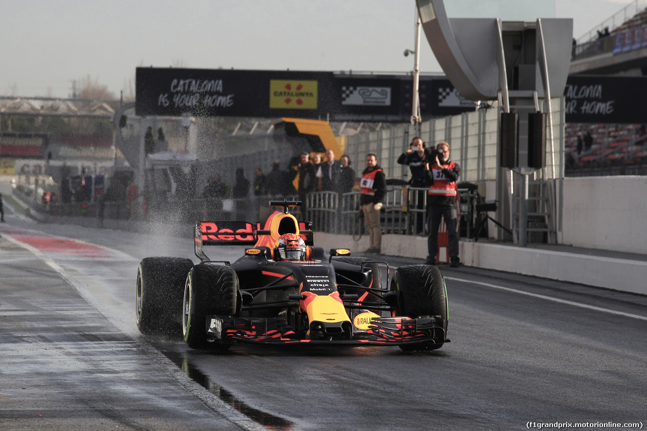 TEST F1 BARCELLONA 2 MARZO, 02.03.2017 - Max Verstappen (NED) Red Bull Racing RB13