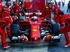 TEST F1 BARCELLONA 7 MARZO, Sebastian Vettel (GER) Ferrari SF70H in the pits. 07.03.2017.