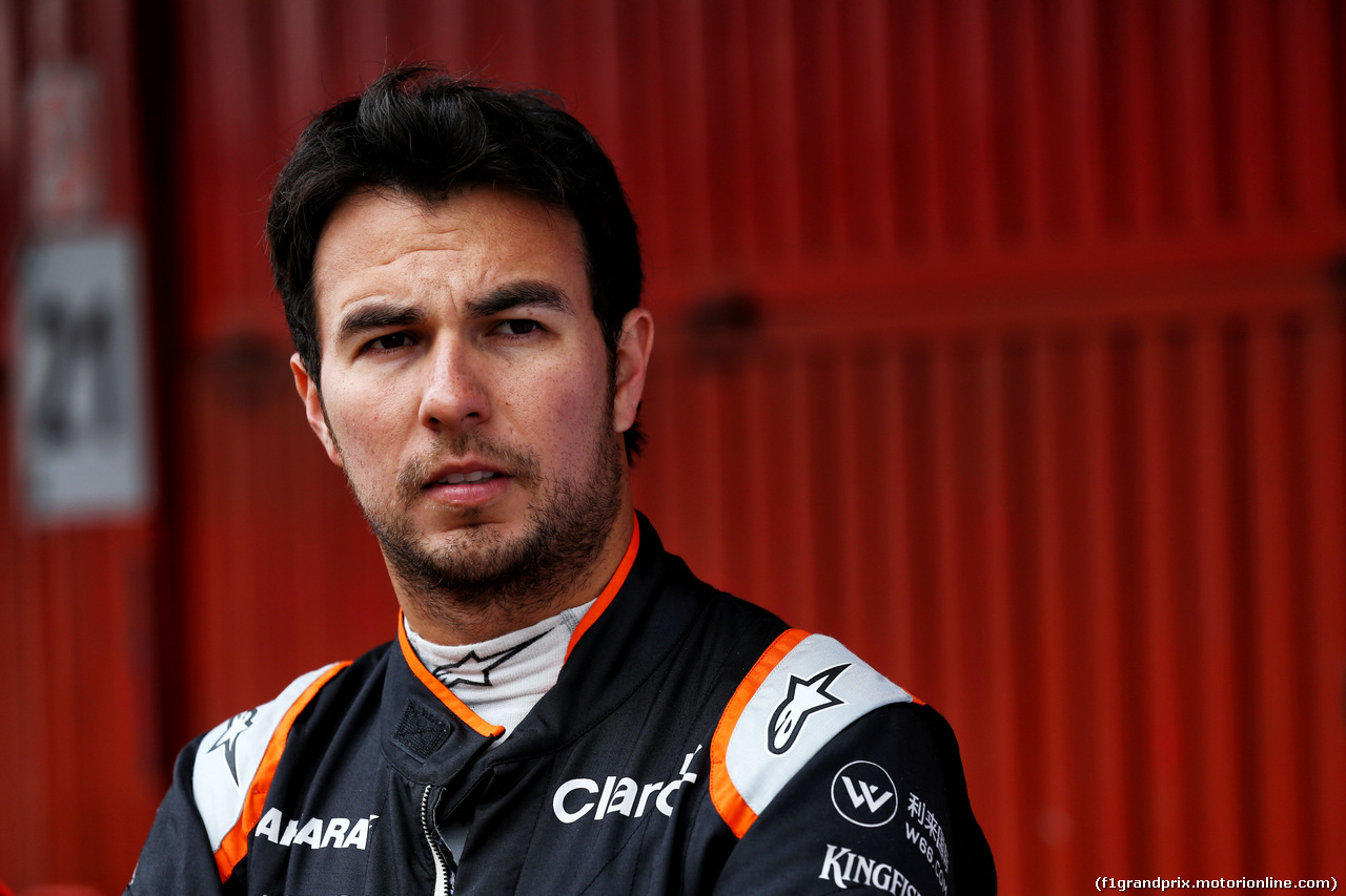 TEST F1 BARCELLONA 8 MARZO, Sergio Perez (MEX) Sahara Force India F1. 08.03.2017.