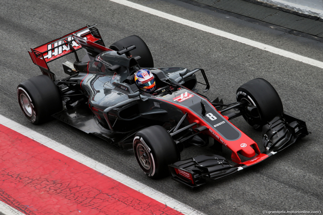 TEST F1 BARCELLONA 8 MARZO, Romain Grosjean (FRA) Haas F1 Team VF-17. 08.03.2017.