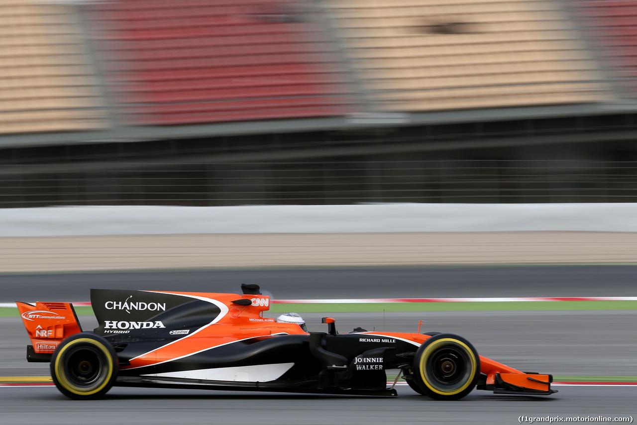 TEST F1 BARCELLONA 8 MARZO, Fernando Alonso (ESP) McLaren F1  08.03.2017. F
