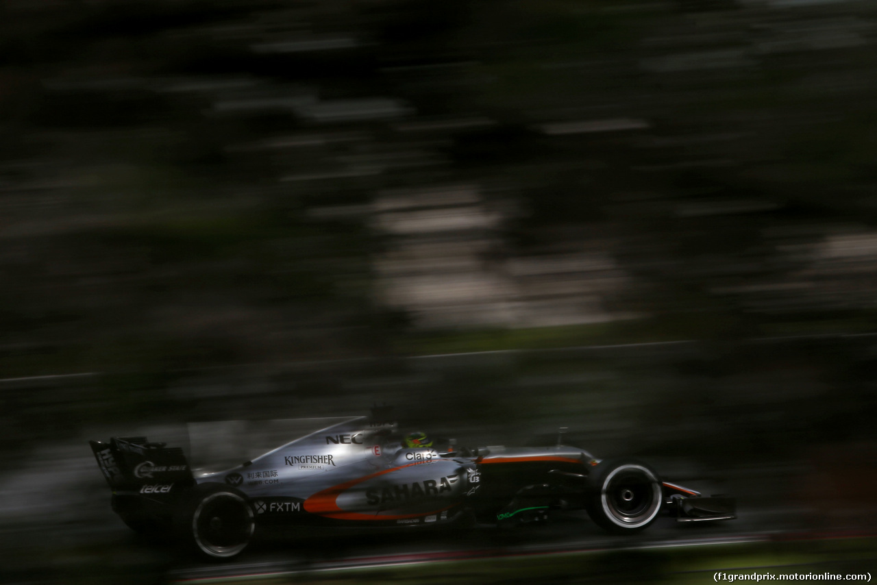 TEST F1 BARCELLONA 8 MARZO, Sergio Perez (MEX) Sahara Force India F1   08.03.2017.