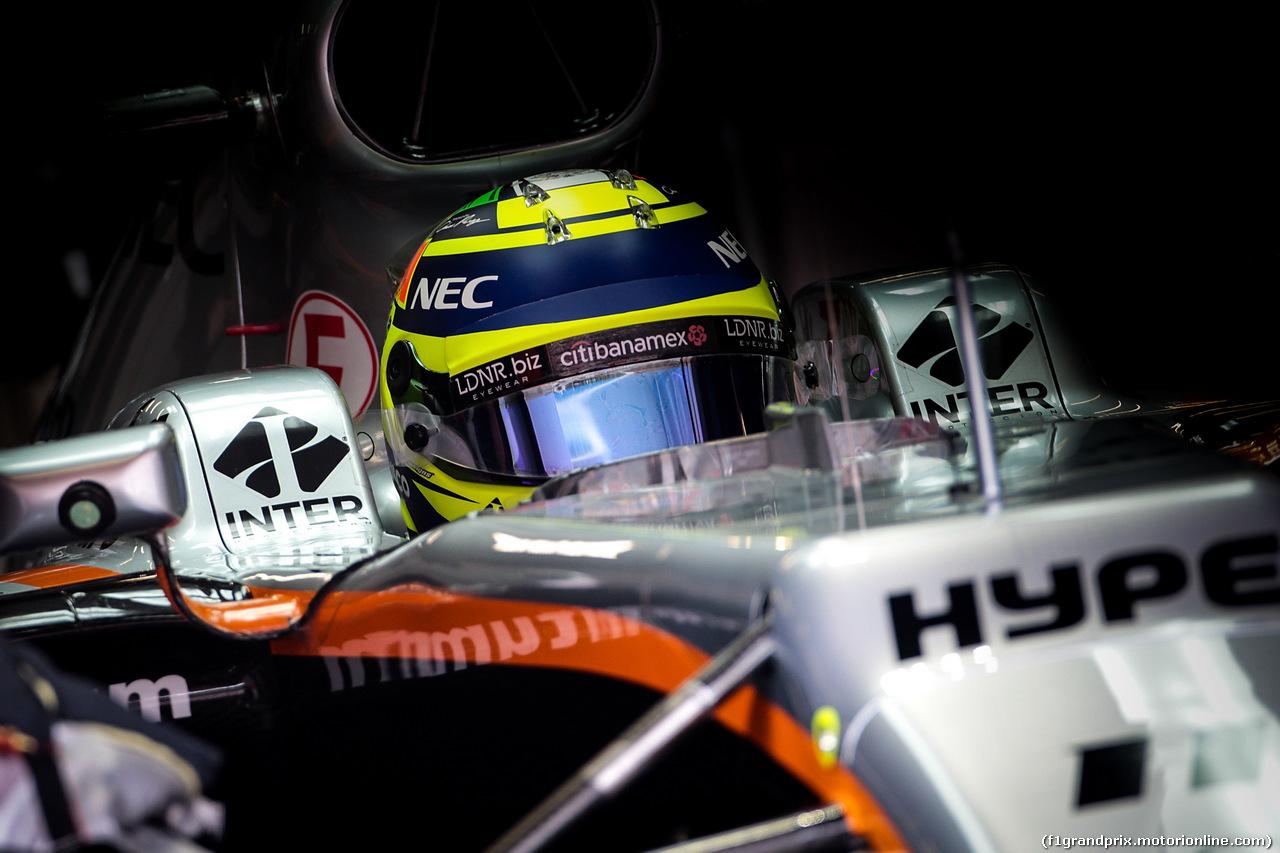 TEST F1 BARCELLONA 8 MARZO, Sergio Perez (MEX) Sahara Force India F1 VJM10. 08.03.2017.