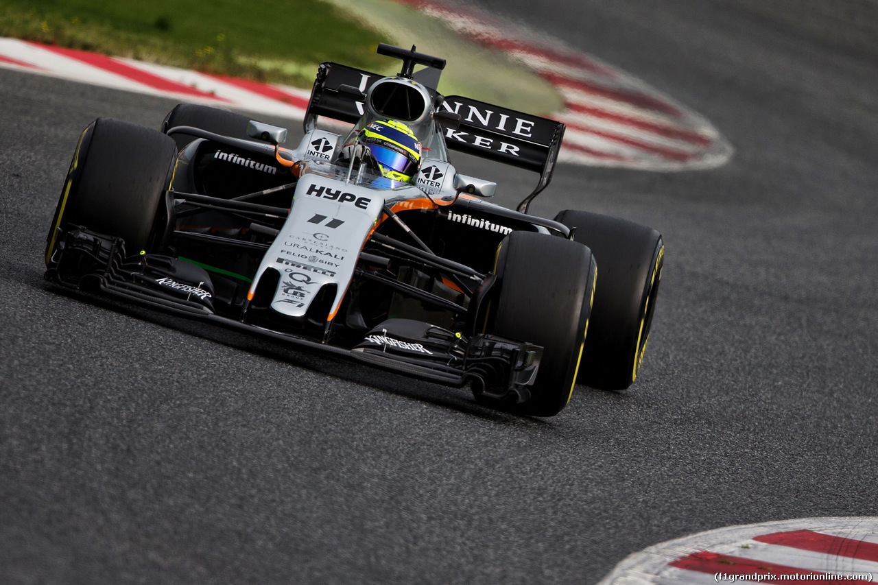 TEST F1 BARCELLONA 8 MARZO, Sergio Perez (MEX) Sahara Force India F1 VJM10. 08.03.2017.