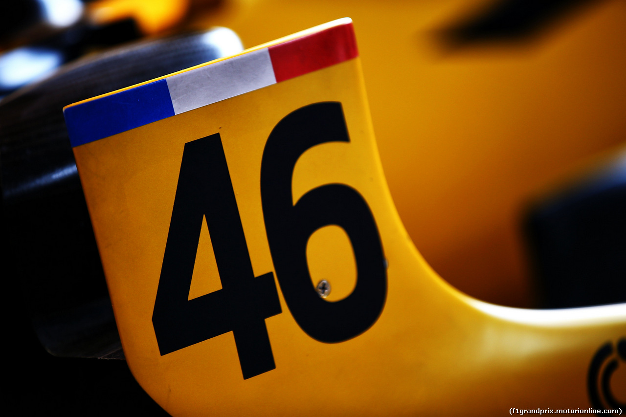 TEST F1 BUDAPEST 02 AGOSTO, #46 for Robert Kubica (POL) Renault Sport F1 Team RS17 Test Driver. 02.08.2017.