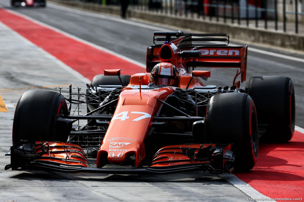 TEST F1 BUDAPEST 02 AGOSTO, Lando Norris (GBR) McLaren MCL32 Test Driver. 02.08.2017.