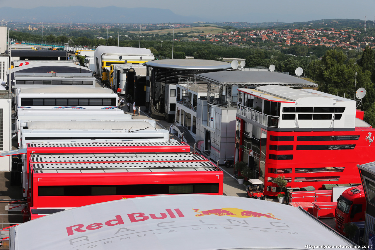 TEST F1 BUDAPEST 02 AGOSTO, The paddock. 02.08.2017.