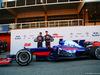 TORO ROSSO STR12, (L to R): Carlos Sainz Jr (ESP) Scuderia Toro Rosso e team mate Daniil Kvyat (RUS) Scuderia Toro Rosso unveil the Scuderia Toro Rosso STR12. 26.02.2017.