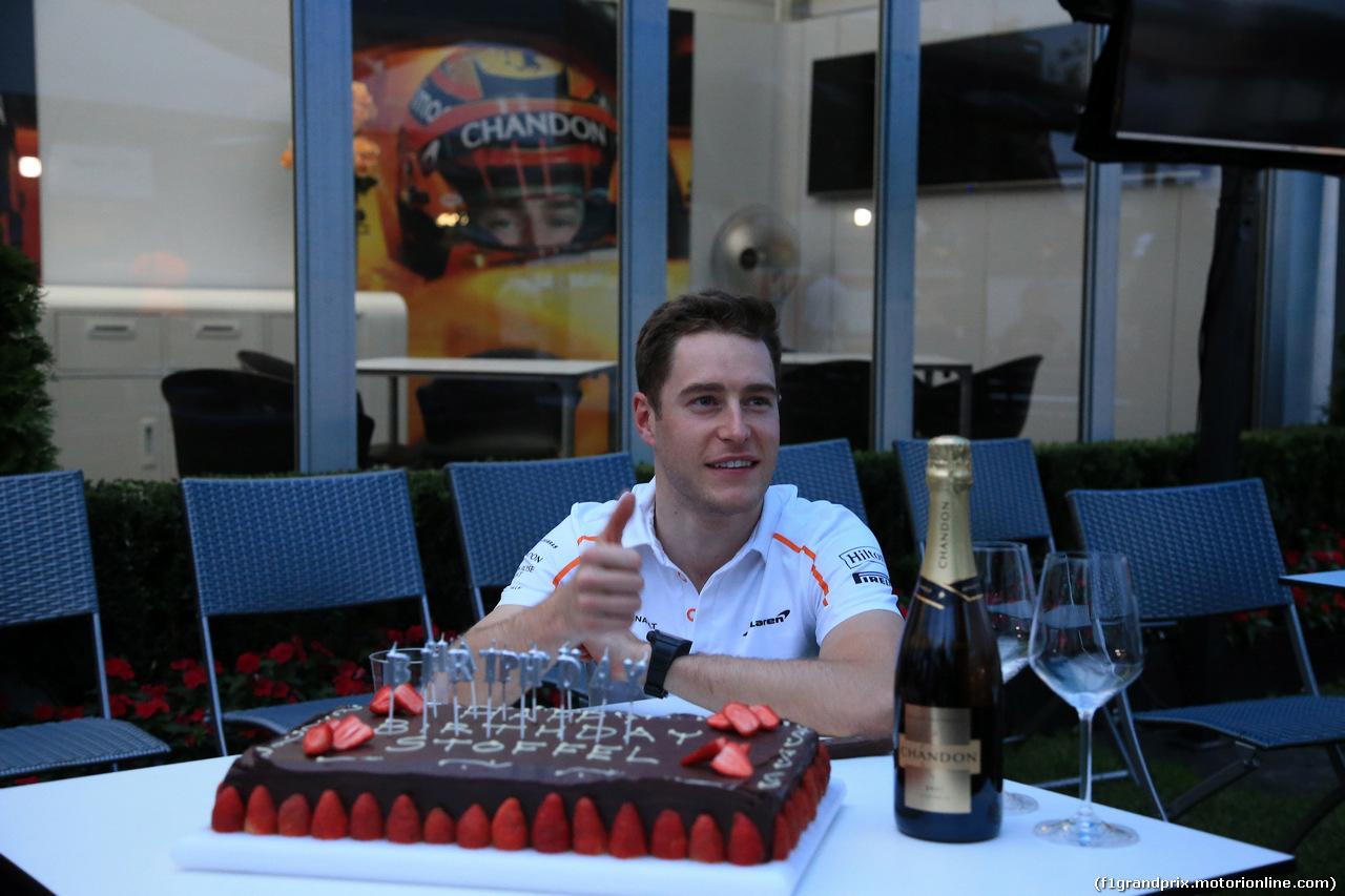 GP AUSTRALIA, 25.03.2018 - The cake of birthday of Stoffel Vandoorne (BEL)