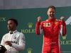 GP AUSTRALIA, 25.03.2018 - Gara, 2nd place Lewis Hamilton (GBR) Mercedes AMG F1 W09 e Sebastian Vettel (GER) Ferrari SF71H vincitore