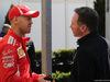 GP AUSTRALIA, 22.03.2018 - Sebastian Vettel (GER) Ferrari SF71H e Christian Horner (GBR), Red Bull Racing, Sporting Director