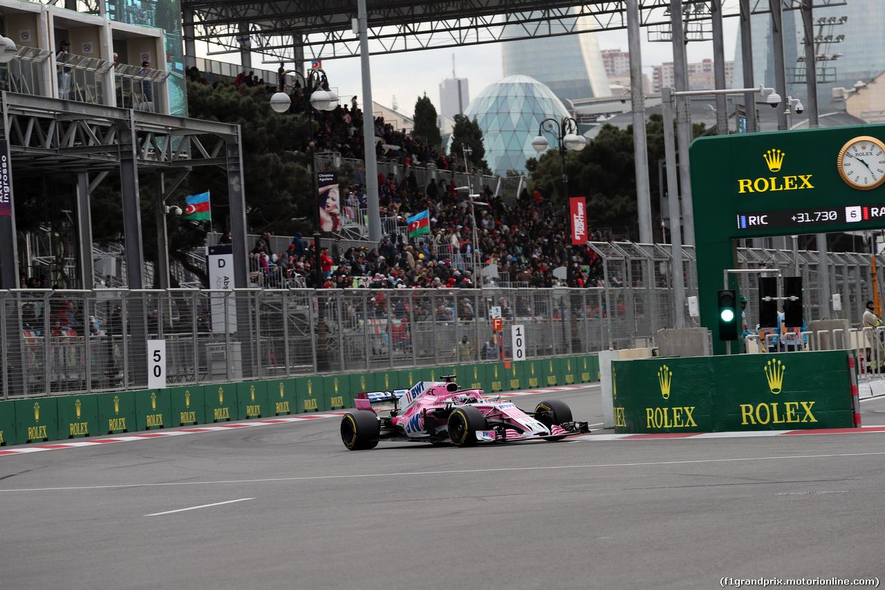GP AZERBAIJAN, 29.04.2018 - Gara, Sergio Perez (MEX) Sahara Force India F1 VJM011