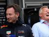 GP AZERBAIJAN, 29.04.2018 - Gara, Christian Horner (GBR), Red Bull Racing, Sporting Director e Johnny Herbert (GBR)