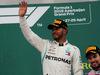 GP AZERBAIJAN, 29.04.2018 - Gara, Lewis Hamilton (GBR) Mercedes AMG F1 W09 vincitore e 3rd place Sergio Perez (MEX) Sahara Force India F1 VJM011