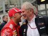 GP AZERBAIJAN, 29.04.2018 - Gara, Sebastian Vettel (GER) Ferrari SF71H e Helmut Marko (AUT), Red Bull Racing, Red Bull Advisor