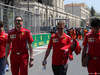 GP AZERBAIJAN, 26.04.2018 - (L-R) Antonio Giovinazzi (ITA), Riccardo Adami (ITA) Ferrari Gara Engineer, Sebastian Vettel (GER) Ferrari SF71H e Edoardo Brosco (ITA) Ferrari F1 – Track Engineer.