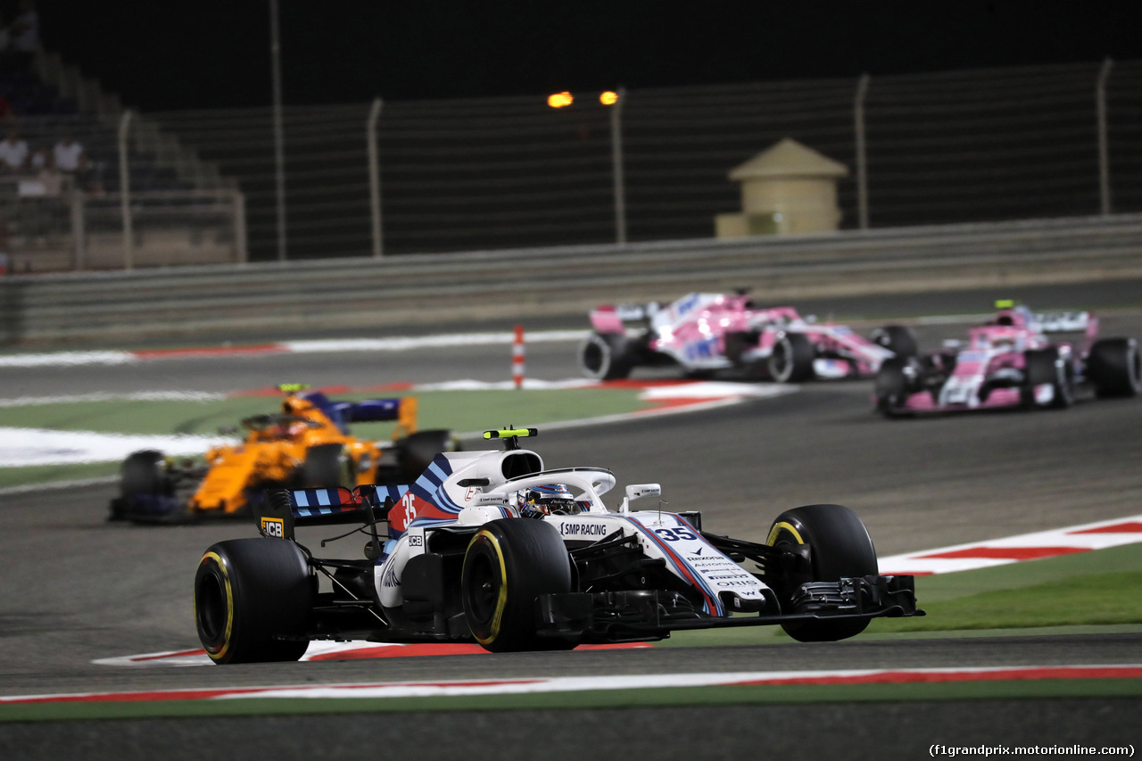 GP BAHRAIN, 08.04.2018 - Gara, Sergey Sirotkin (RUS) Williams FW41