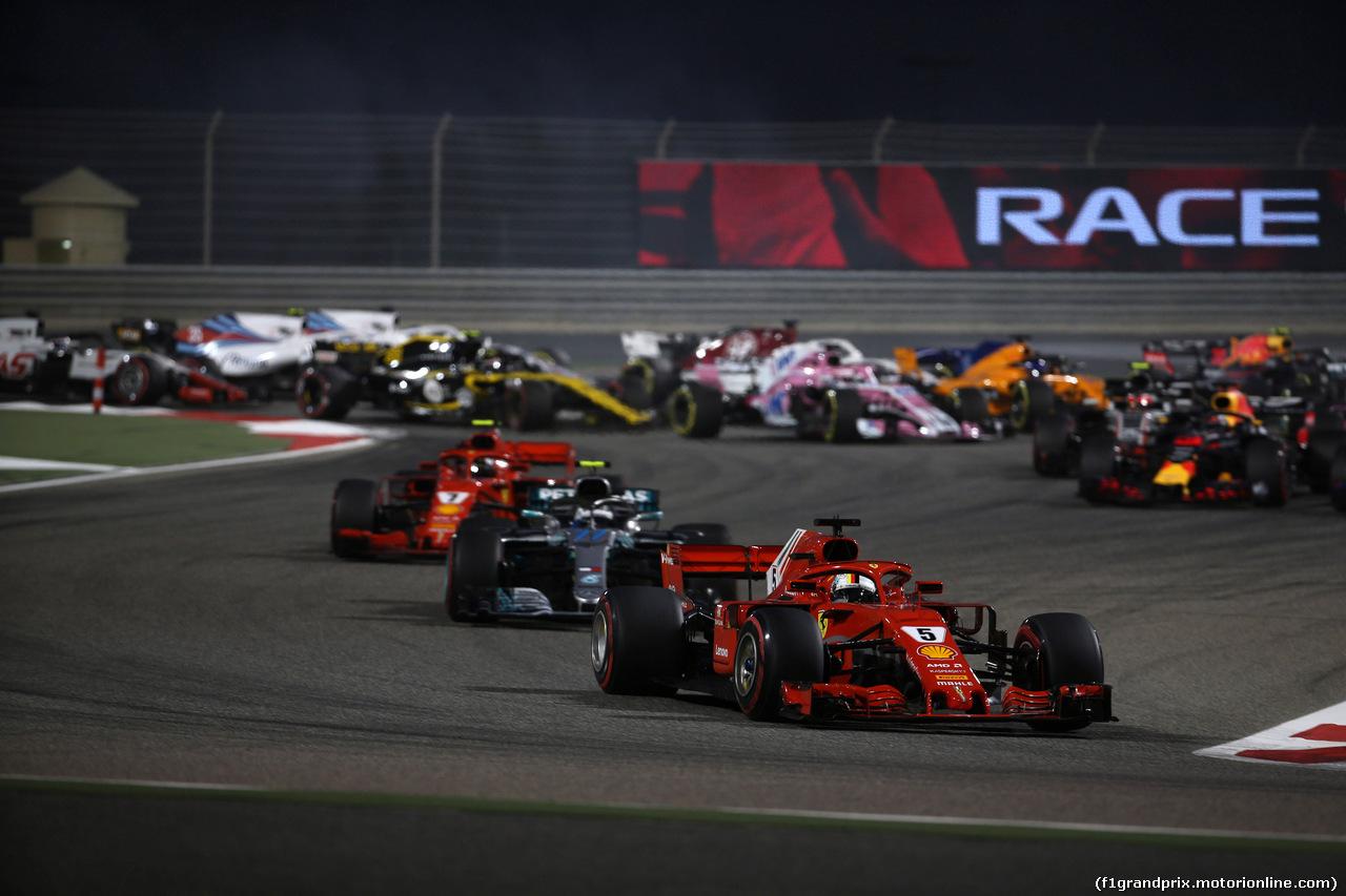 GP BAHRAIN, 08.04.2018 - Gara, Start of the race