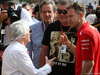 GP BAHRAIN, 08.04.2018 - Bernie Ecclestone (GBR) e Sebastian Vettel (GER) Ferrari SF71H