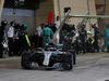 GP BAHRAIN, 08.04.2018 - Gara, Pit stop, Valtteri Bottas (FIN) Mercedes AMG F1 W09