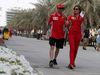 GP BAHRAIN, 05.05.2018 - Kimi Raikkonen (FIN) Ferrari SF71H e Stefania Boccoli (ITA) Ferrari PR Officer
