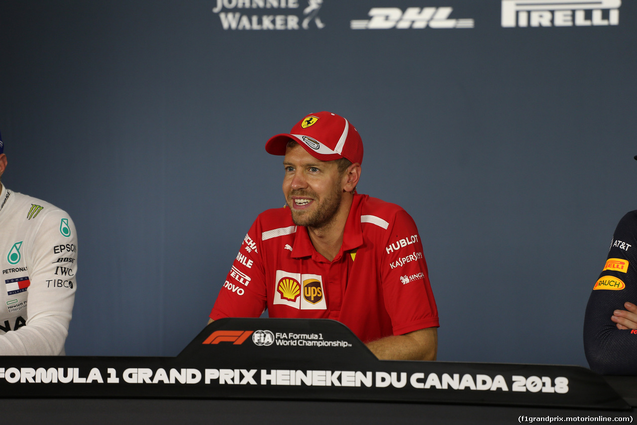 GP CANADA, 10.06.2018- After Gara Official Fia press conference, Sebastian Vettel (GER) Ferrari SF71H