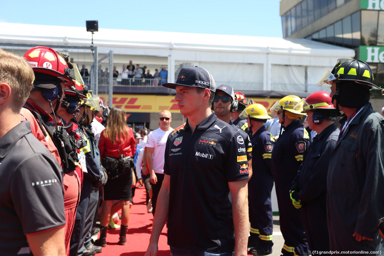 GP CANADA, 10.06.2018- driver parade, Max Verstappen (NED) Red Bull Racing RB14