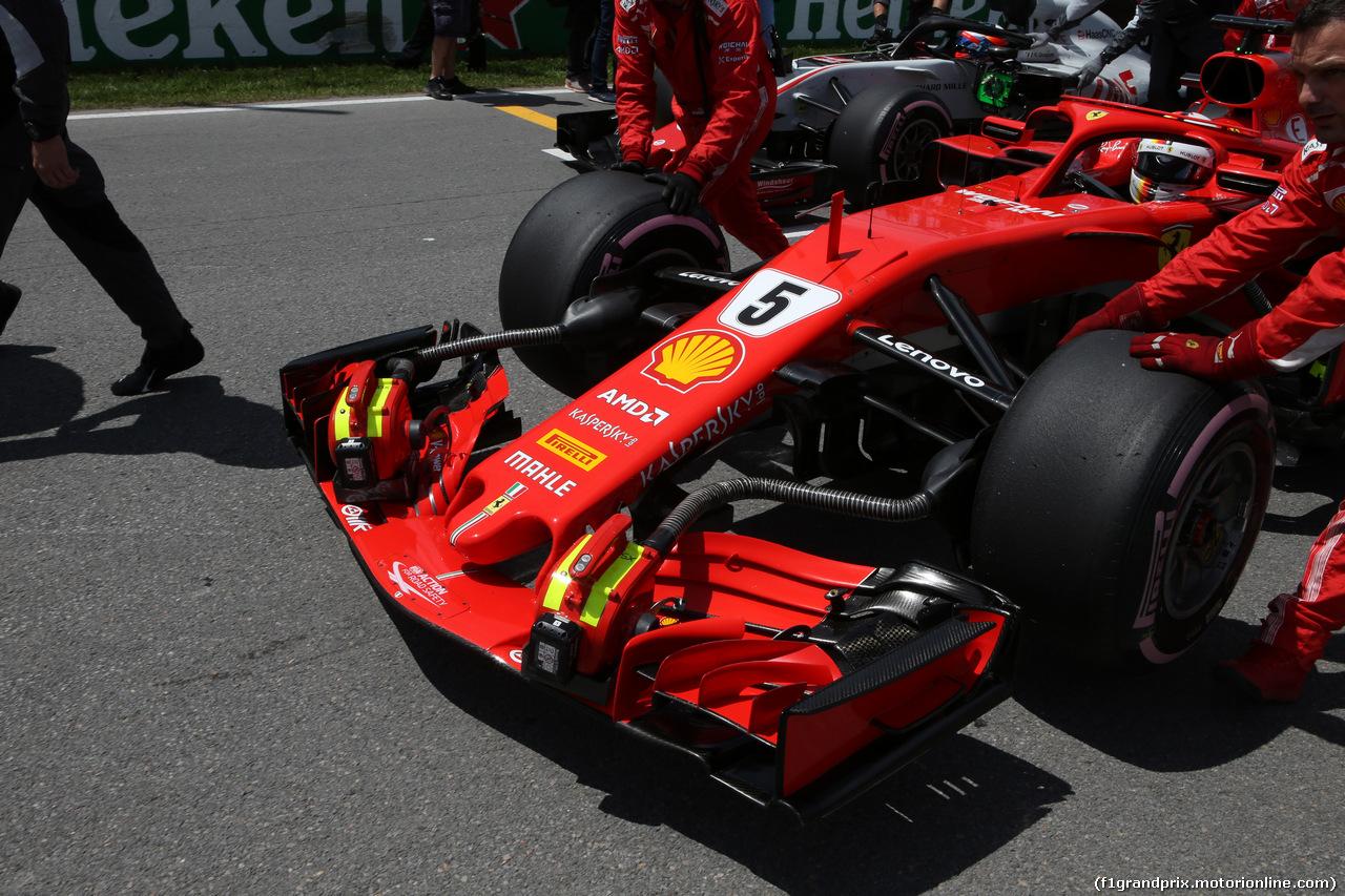 GP CANADA, 10.06.2018- Gara, the partenzaing grid: Sebastian Vettel (GER) Ferrari SF71H