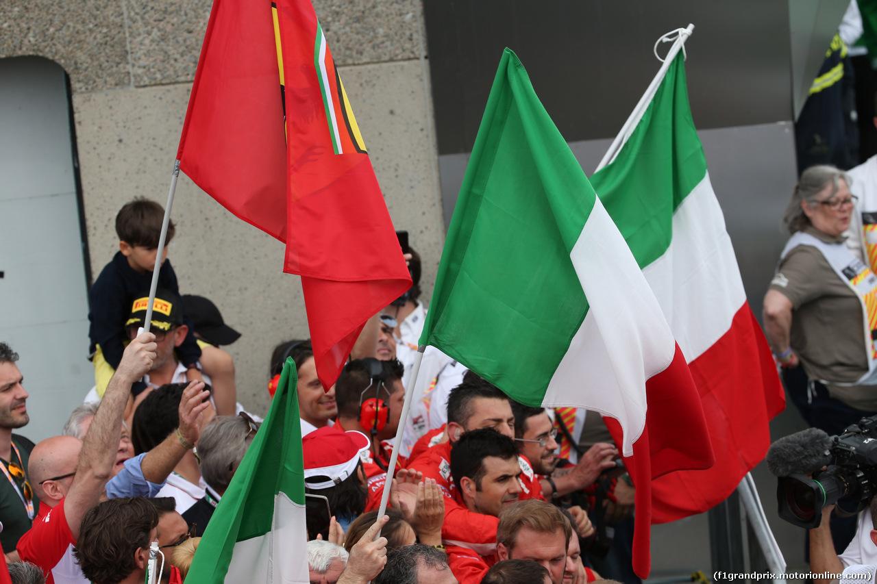 GP CANADA, 10.06.2018- Italian flag under the podium
