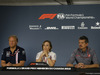 GP CANADA, 08.06.2018- friday Official Fia press conference, L to R Robert Fernley (GBR) Sahara Force India F1 Team Deputy Team Principal, Claire Williams (GBR) Williams Deputy Team Principa e Guenther Steiner (ITA) Haas F1 Team Prinicipal