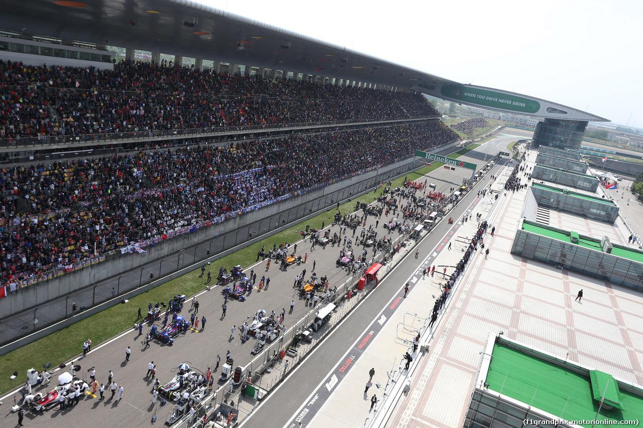 GP CINA, 15.04.2018- The Starting grid