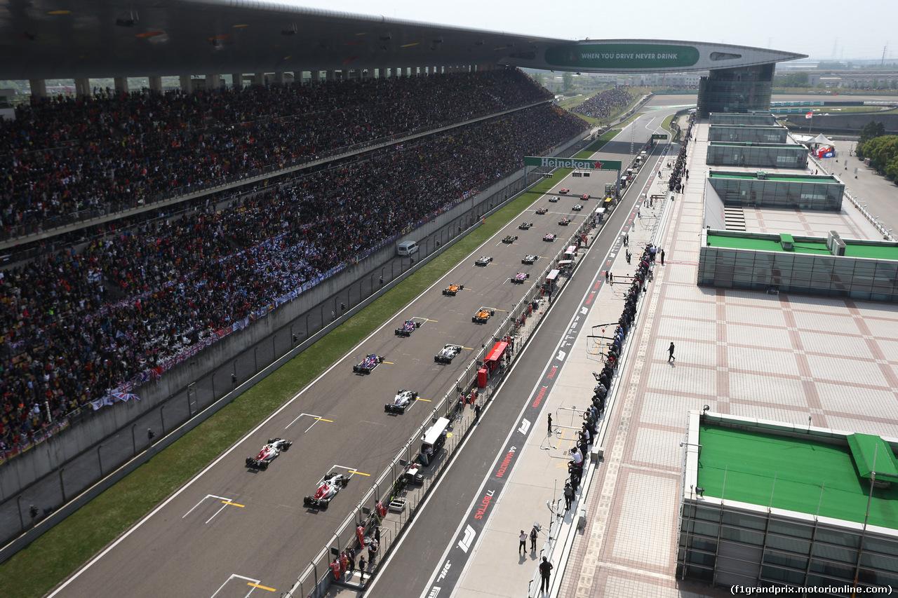 GP CINA, 15.04.2018- Gara, the partenza