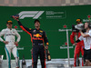 GP CINA, 15.04.2018- Podium,  winner Daniel Ricciardo (AUS) Red Bull Racing RB14, 2nd place Valtteri Bottas (FIN) Mercedes AMG F1 W09, 3rd place Kimi Raikkonen (FIN) Ferrari SF71H