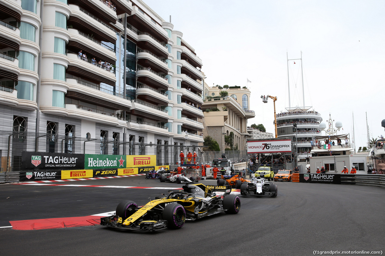 GP MONACO, 27.05.2018 - Gara, Nico Hulkenberg (GER) Renault Sport F1 Team RS18