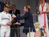 GP MONACO, 27.05.2018 - Gara, 3rd place Lewis Hamilton (GBR) Mercedes AMG F1 W09 with Pierre Casiraghi