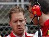 GP SPAGNA, 13.05.2018 - Gara, Sebastian Vettel (GER) Ferrari SF71H e Riccardo Adami (ITA) Ferrari Gara Engineer