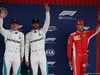 GP SPAGNA, 12.05.2018 - Qualifiche, 2nd place Valtteri Bottas (FIN) Mercedes AMG F1 W09, Lewis Hamilton (GBR) Mercedes AMG F1 W09 pole position e 3rd place Sebastian Vettel (GER) Ferrari SF71H