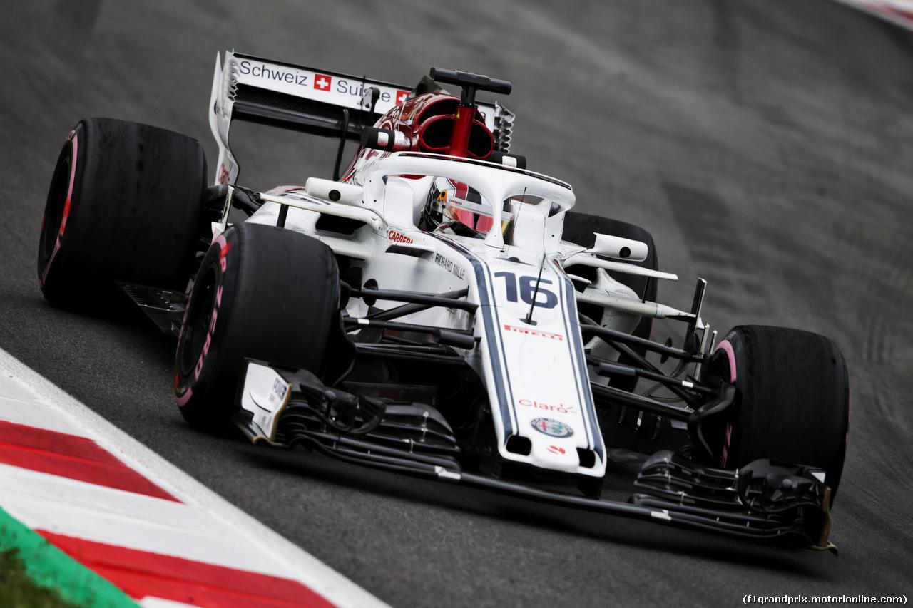 TEST F1 BARCELLONA 16 MAGGIO, Charles Leclerc (MON) Sauber F1 Team C37. 16.05.2018.