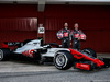 TEST F1 BARCELLONA 26 FEBBRAIO, (L to R): Romain Grosjean (FRA) Haas F1 Team e Kevin Magnussen (DEN) Haas F1 Team reveal the Haas VF-18. 26.02.2018.