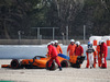 TEST F1 BARCELLONA 26 FEBBRAIO, Fernando Alonso (ESP) McLaren MCL33 in the gravel trap with a wheel missing. 26.02.2018.