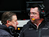 TEST F1 BARCELLONA 26 FEBBRAIO, (L to R): Zak Brown (USA) McLaren Executive Director with Eric Boullier (FRA) McLaren Racing Director. 26.02.2018.
