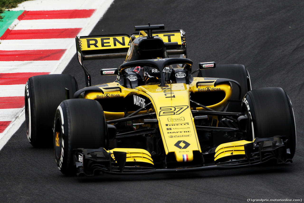 TEST F1 BARCELLONA 26 FEBBRAIO, Nico Hulkenberg (GER) Renault Sport F1 Team RS18. 26.02.2018.