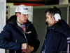 TEST F1 BARCELLONA 27 FEBBRAIO, (L to R): Esteban Ocon (FRA) Sahara Force India F1 Team with Bradley Joyce (GBR) Sahara Force India F1 Gara Engineer. 27.02.2018.
