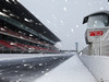 TEST F1 BARCELLONA 28 FEBBRAIO, Snow falls at the ciruiit. 28.02.2018.