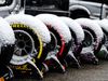 TEST F1 BARCELLONA 28 FEBBRAIO, Pirelli tyres covered in snow. 28.02.2018.