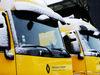TEST F1 BARCELLONA 28 FEBBRAIO, Renault Sport F1 Team trucks with snow. 28.02.2018.