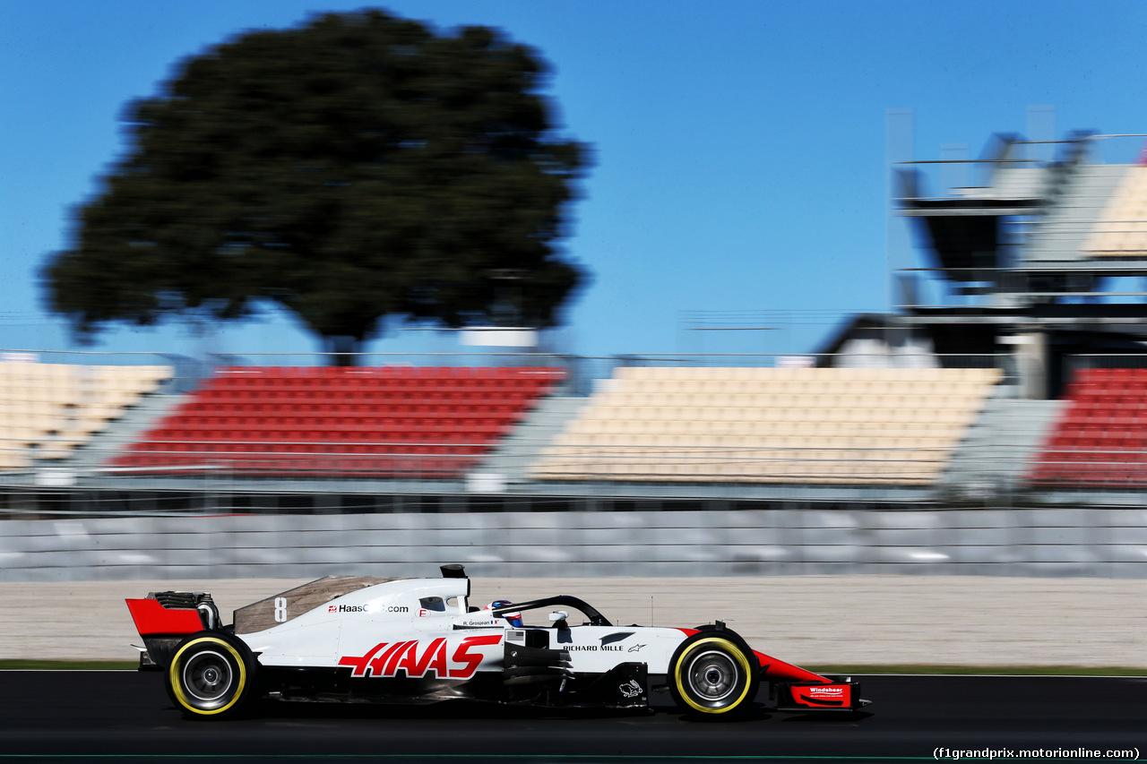 TEST F1 BARCELLONA 7 MARZO, Romain Grosjean (FRA) Haas F1 Team VF-18. 07.03.2018.