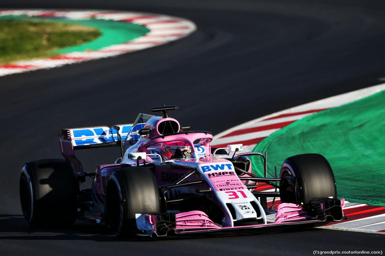 TEST F1 BARCELLONA 7 MARZO, Esteban Ocon (FRA) Sahara Force India F1 VJM11. 07.03.2018.