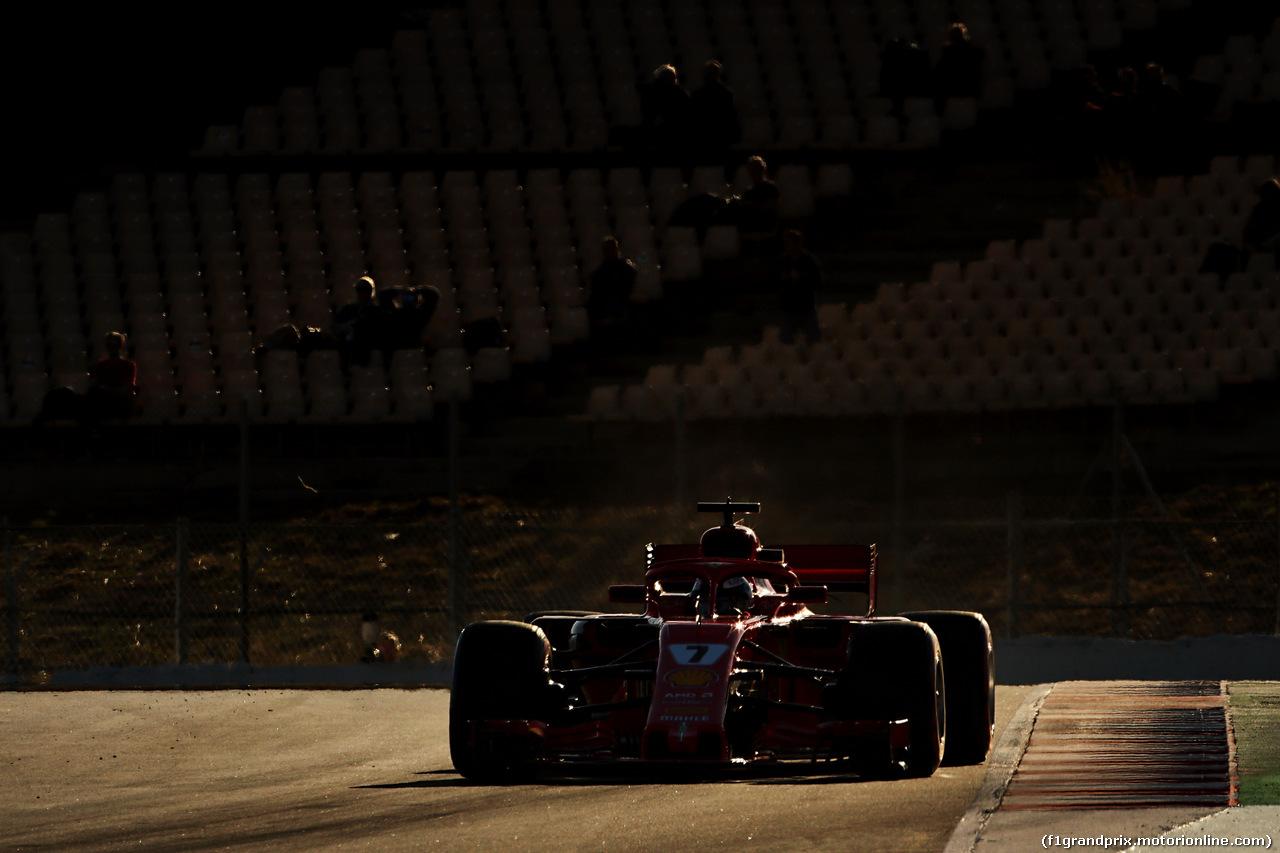 TEST F1 BARCELLONA 7 MARZO, Kimi Raikkonen (FIN) Ferrari SF71H. 07.03.2018.