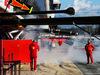 TEST F1 BARCELLONA 7 MARZO, Smoke coming from the Ferrari garage. 07.03.2018.